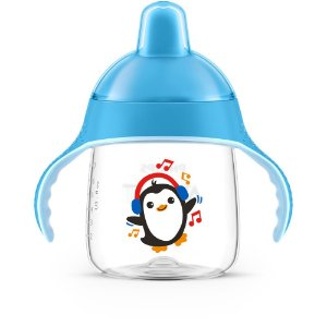Copo Pinguim Azul 260ml - Avent 12+