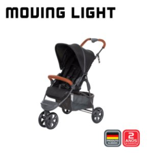 Carrinho Moving Light Woven Black - ABC Design