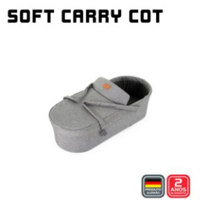 Soft Carry Cot (MERANO) Woven Grey - ABC Design