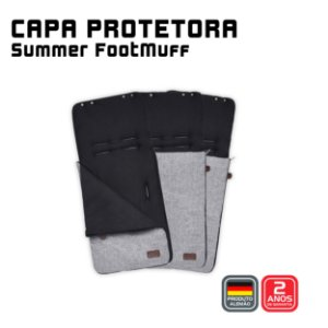 Capa protetora Summer FootMuff Graphite Grey- ABC Design
