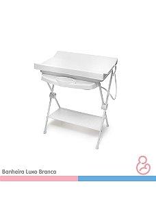 Banheira Bebê plástica luxo Branca - Galzerano