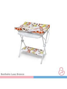 Banheira Bebê plástica luxo Girafa - Galzerano