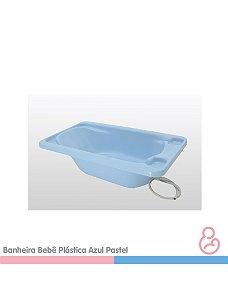 Banheira Bebê Plástica Azul - SUPORTE VENDIDO SEPARADAMENTE - Galzerano