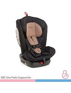 Cadeira auto Lina Preto e Capuccino - Galzerano