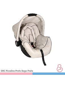 Bebê conforto Piccolina Preto e Bege - Galzerano