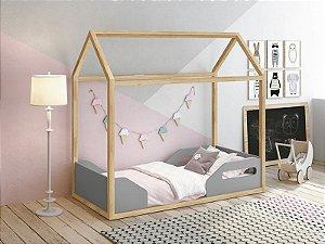Mini cama Montessoriana Zoe Cinza - Reller