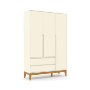 Roupeiro Nature Clean 03 Portas Off White EcoWood - Matic