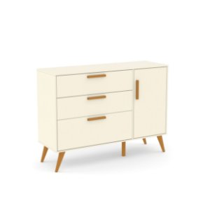 Cômoda Retrô com porta Off White EcoWood - Matic