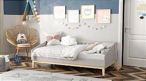 cama babá nature cinza natural - matic
