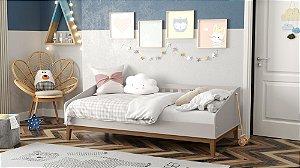 cama babá nature cinza ecowood - matic
