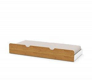 cama auxiliar branco soft freijó - matic