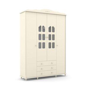 roupeiro provence 04 portas off white - matic