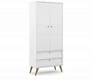 roupeiro gold 02 portas branco soft ecowood - matic