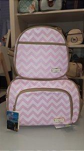 Conjunto de bolsas de maternidade rosa - Pirulitando baby