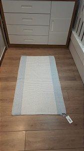 tapete azul 70 x 130 cm - oficina da roça