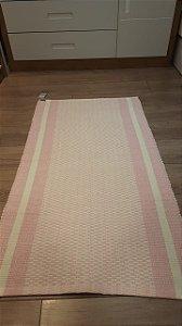tapete rosa 70 x 130 cm - oficina da roça