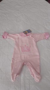 saída de maternidade little princess rosa