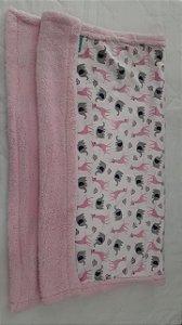 cobertor sherpa safari rosa - buba