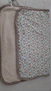 cobertor de sherpam safari azul
