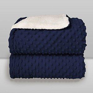 cobertor azul marinho