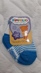 meia elefantinho azul 00 a 15 - pimpolho