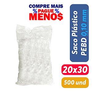 Saco Plástico PEBD 20x30x0,10 Pct c/ 500 und