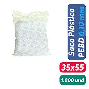 Saco Plástico PEBD 35x55x0,10 Pct c/ 1.000 und