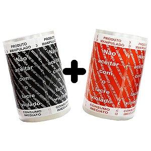 KIT Lacre de Segurança Delivery - 2 Bobinas - 2.000 Lacres (1.000 Preto/Branco + 1.000 Vermelho/Branco)
