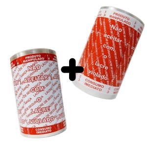 KIT Lacre de Segurança Delivery - 2 Bobinas - 2.000 Lacres (1.000 Branco/Vermelho + 1.000 Vermelho/Branco)