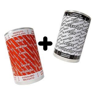 KIT Lacre de Segurança Delivery - 2 Bobinas - 2.000 Lacres (1.000 Branco/Preto + 1.000 Vermelho/Branco)