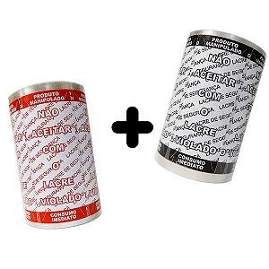 KIT Lacre de Segurança Delivery - 2 Bobinas - 2.000 Lacres (1.000 Branco/Preto + 1.000 Branco/Vermelho)