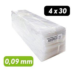 Saco Plástico PEBD 4x30x0,09 Pct c/ 1.000 und