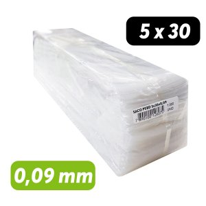 Saco Plástico PEBD 5x30x0,09 Pct c/ 1.000 und