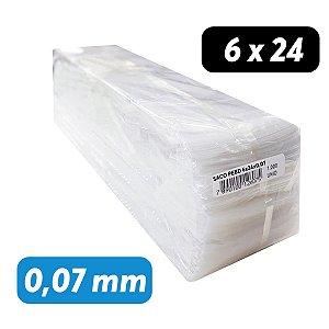 Saco Plástico PEBD 6x24x0,07 Pct c/ 1.000 und