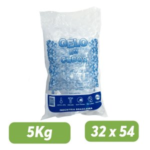 Saco PEBD Impresso Gelo 5Kg 32x54x0,14 - Pct c/ 1.000 und