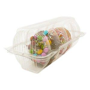 KIT - Embalagem Blister para Donuts - 5 Cavidades - Praticpack - Caixa c/ 100 unid.