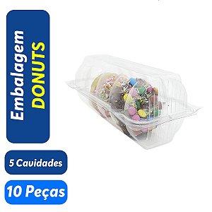 Embalagem Blister para Donuts - 5 Cavidades - Praticpack - Pct c/ 10 unid.