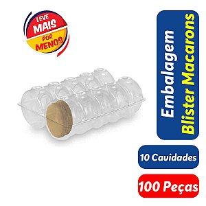 KIT - Blister Macarons - 10 Cavidades - Praticpack - Caixa c/ 100 unidades