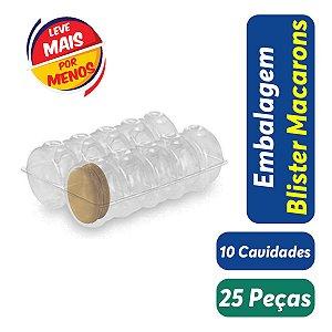 KIT - Blister Macarons - 10 Cavidades - Praticpack - Pacote c/ 25 unidades