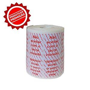 Lacre de Segurança Delivery - Branco - 1 Bobina - 1.000 Lacres - UN.