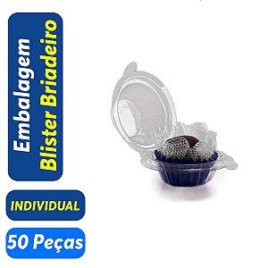 Blister Docinho, Brigadeiro - Individual - 3,5x3,0 - Praticpack - Pct com 50 unid.
