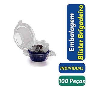 Blister Docinho, Brigadeiro - Individual - 3,5x3,0 - Praticpack - Pct com 100 unid.