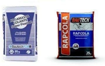 Kit de Bautech Argamassa ACIII + Bautech Rapcola