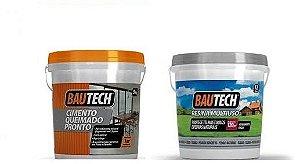 Kit Cimento Queimado  Bautech + Resina Acrílica Fosca 3,6L