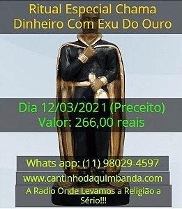 RITUAL ESPECIAL CHAMA DINHEIRO COM EXU DO OURO