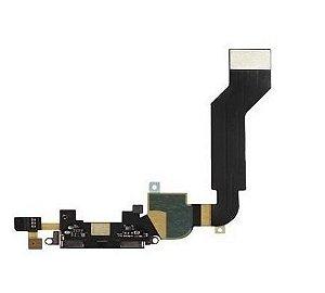 Flex c/conector de carga Iphone 4G preto