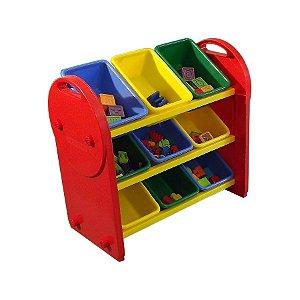 Organizador de Brinquedos Colorido de Plástico