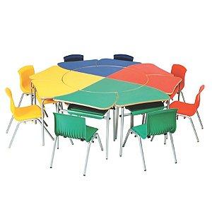 Conjunto coletivo infantil multicolorido – Block Kids
