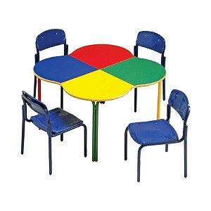 Conjunto coletivo Pré-escolar colorido - Modelo trevo