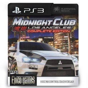 Midnight Club Los Angeles Complete Edition - PS3 - Midia Digital